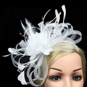 Wte Fascinator w/Feathers Derby, Easter, Wedding